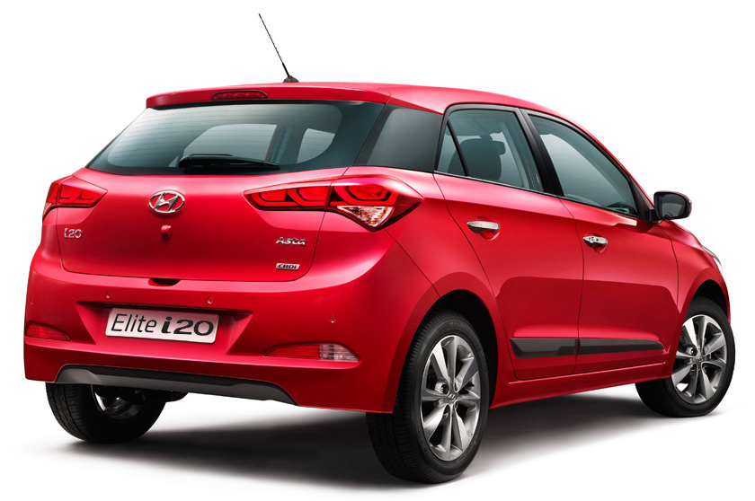Rear view of Elite i20