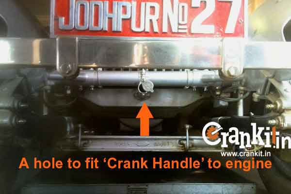 Hole for Crank Handle