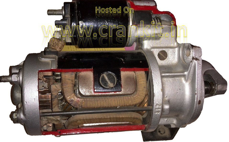 Engine doesn't start: Electric Starter Motor cut-sectional view