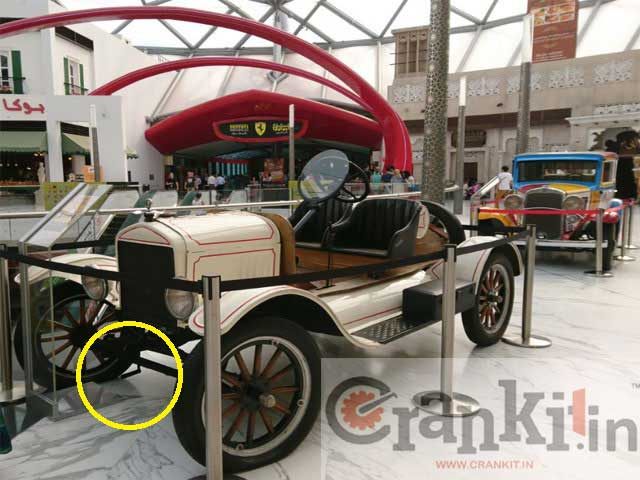 Car with 'Crank Handle""