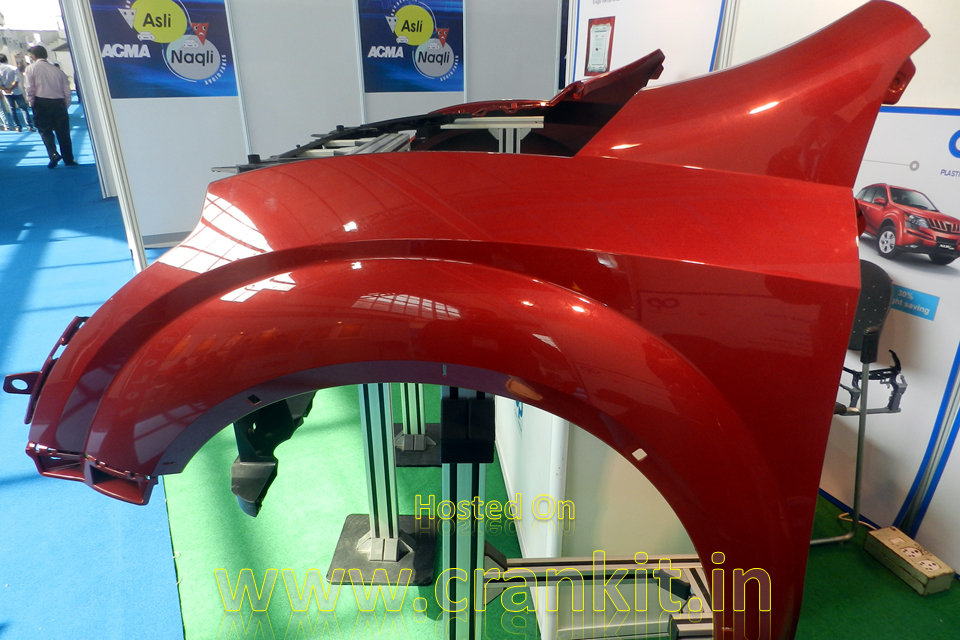 XUV500 Plastic Fender at Automotive Ancillaries Show 2014