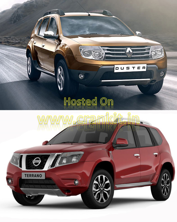 Renault Duster (top) & Nissan Terrano (bottom) use Badge Engineering (Photo Courtesy: Renault, Nissan)