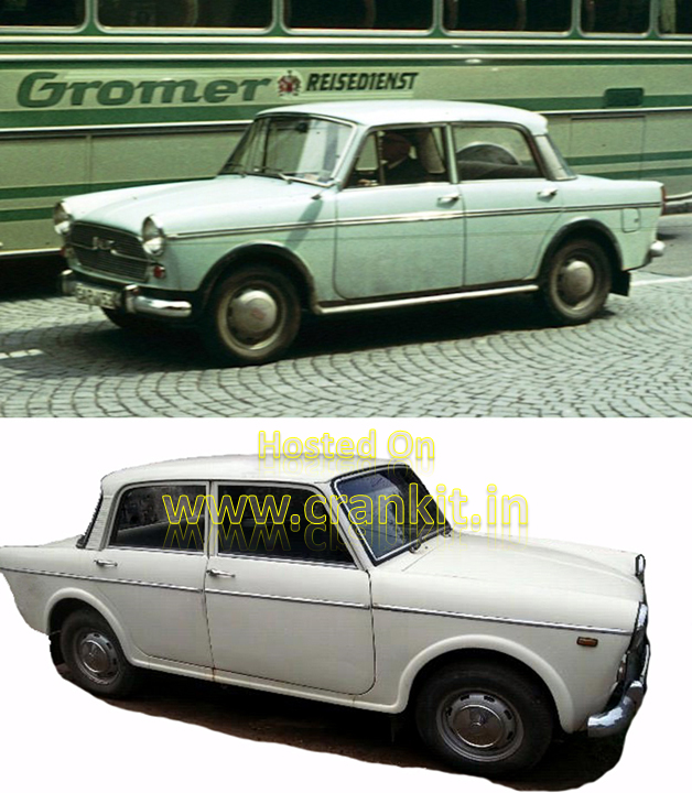 Fiat 1100 D (top) & Premier Padmini (bottom) (Photo Courtesy: (Wikimedia Commons)