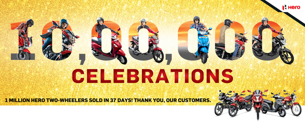 1 million sale celebrations (Photo Courtesy: Hero MotoCorp)