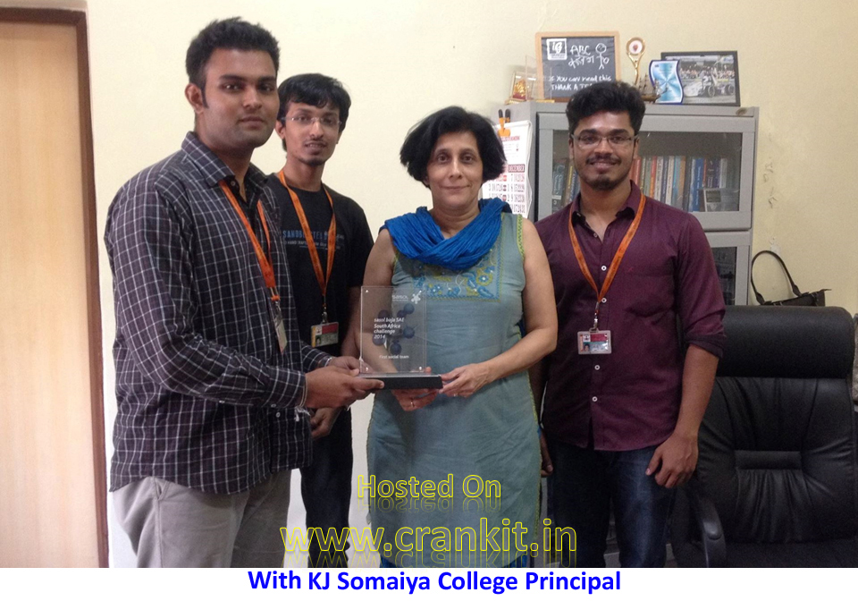 Proudly showing their award to college Principal (Courtesy: Redshift Racing)