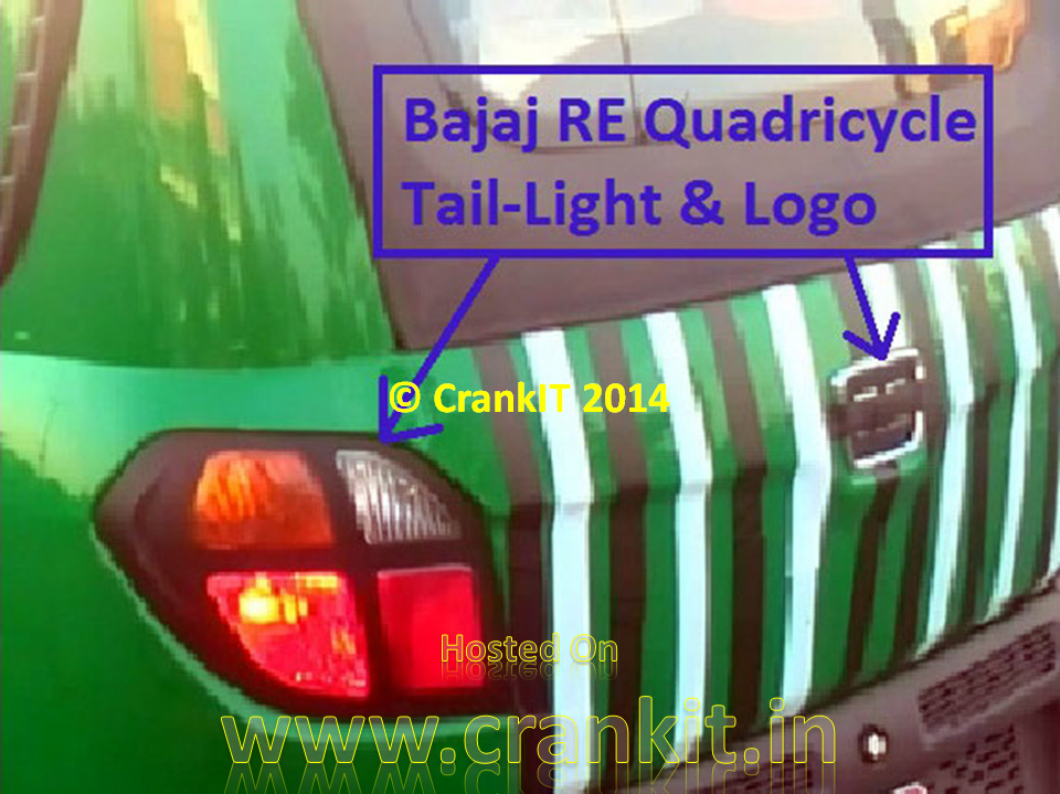 Bajaj RE60 Tail-lights & Logo