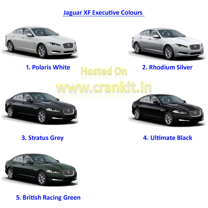Jaguar XF Executive colours (Photo: JLR)