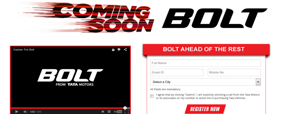 Tata Bolt online booking