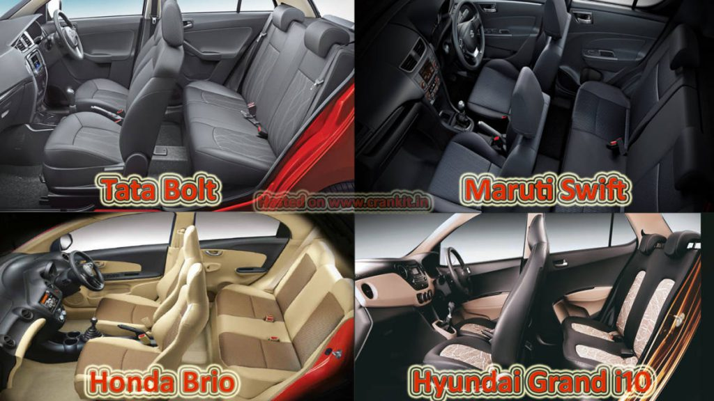 Comparison: Tata Bolt vs the Rest Petrol - Interiors