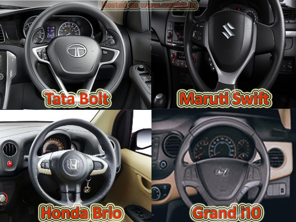 Comparison: Tata Bolt vs the Rest Petrol - Steering