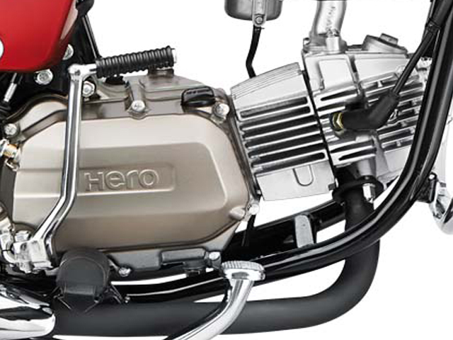 Hero bike's engine (image courtesy: Hero Motocorp)