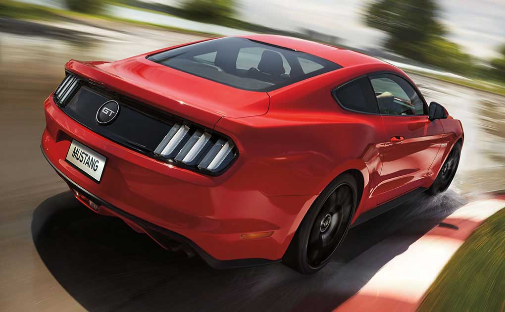 Mustang GT side profile
