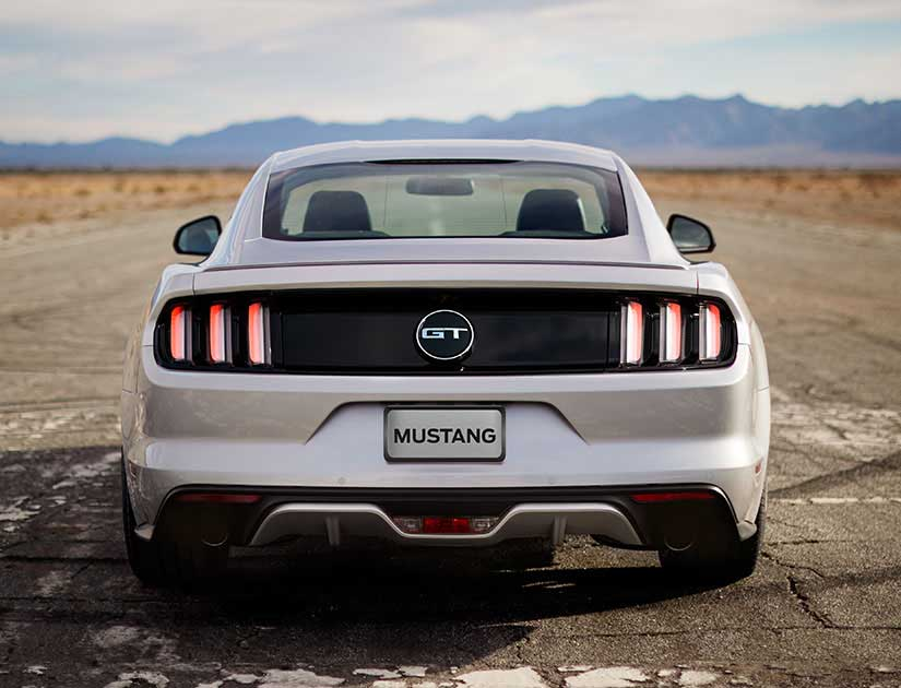 Mustang GT rear profile