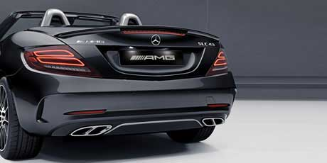 Mercedes AMG-SLC43 rear profile (Courtesy: Mercedes Benz)