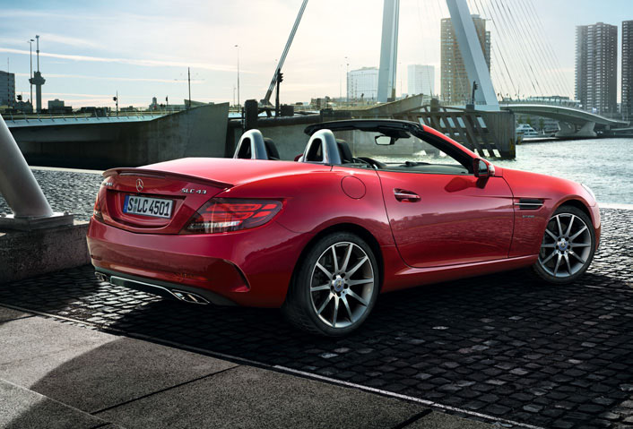 Mercedes AMG SLC43 side profile (Photo Courtesy: Mercedes Benz)