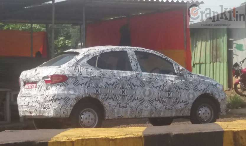 Tata Kite sedan Spy pics (Image courtesy: Rahul)