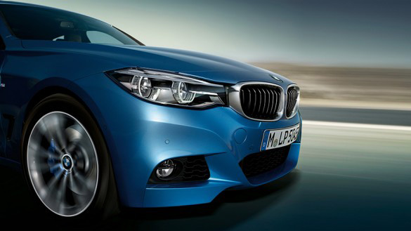 front end of BMW 3 series gran turismo 2016