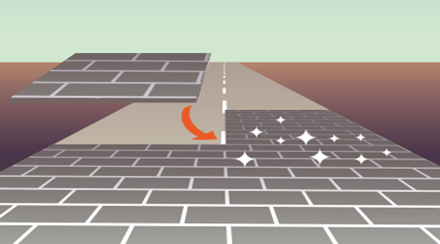 first solar road panels