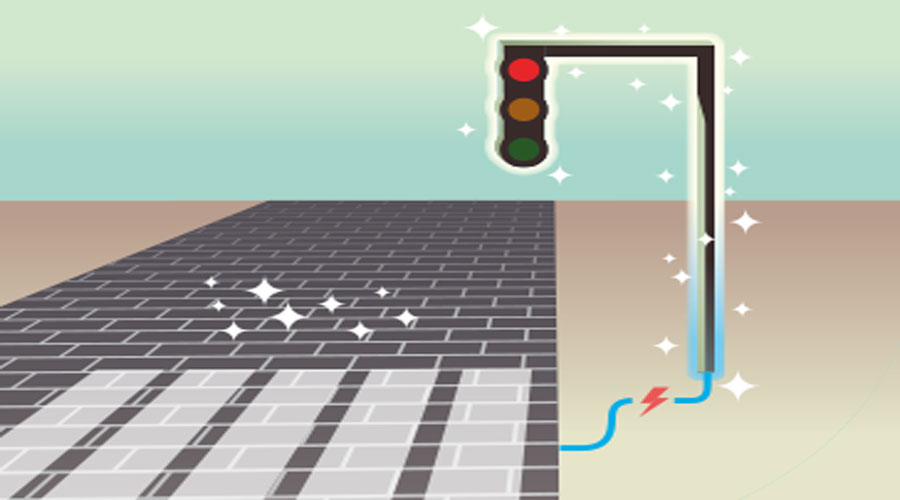 first solar road application