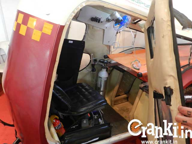 Inside the AmbuPod ambulance