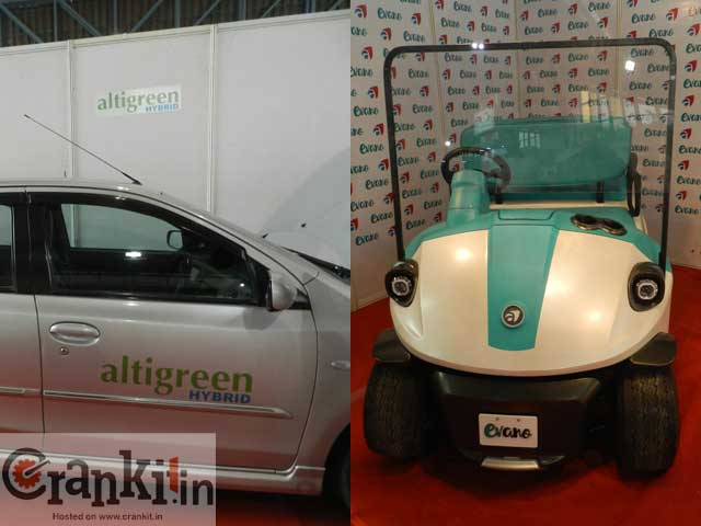 A hybrid retro-fit system from alti-green and electric golf car 'Evano'.