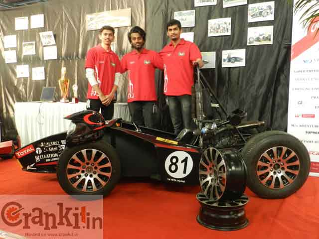 The racing car team 'The Metal Falcons' of DY Patil College of Engg., Pune