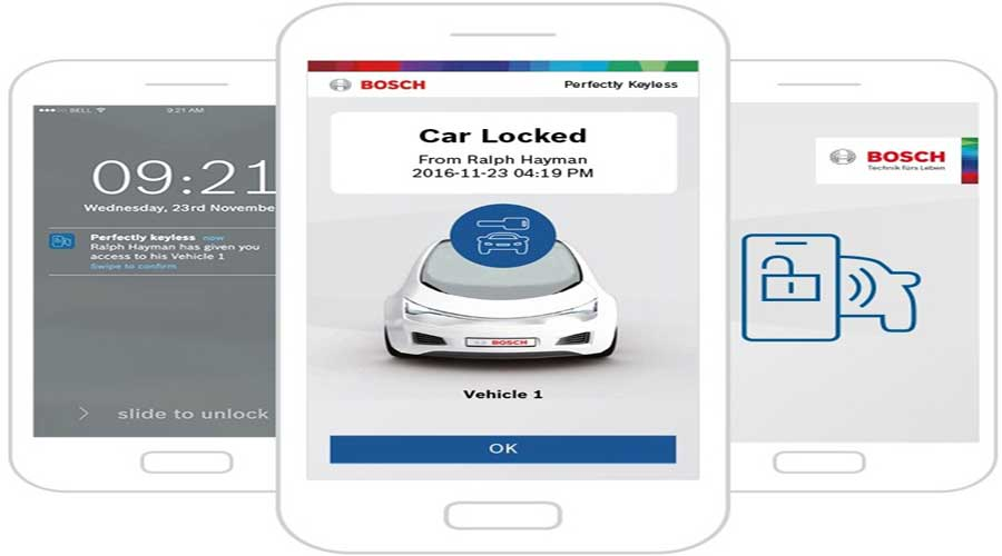 Bosch perfectly keyless Mobile Aplication