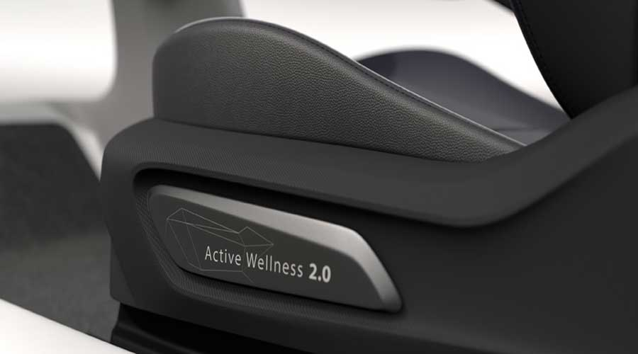 Faurecia active wellness concept seat side view