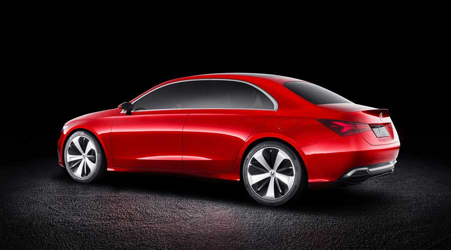 Mercedes Benz Concept A sedan Back View