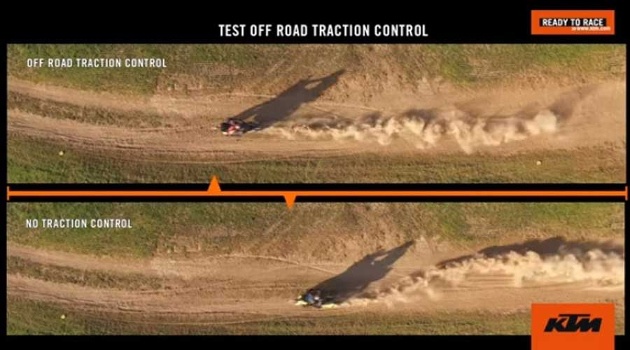 motorcycle traction control Test