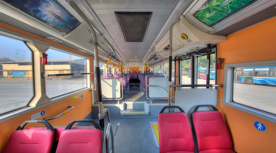 Goldstone BYD electric bus interior