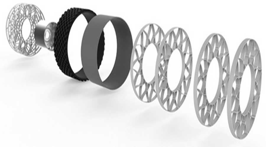 Goodyear airless tyre components