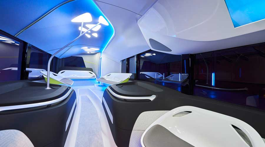 Mercedes Benz future bus Interiors
