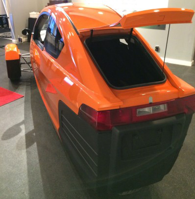 Boot space of Elio
