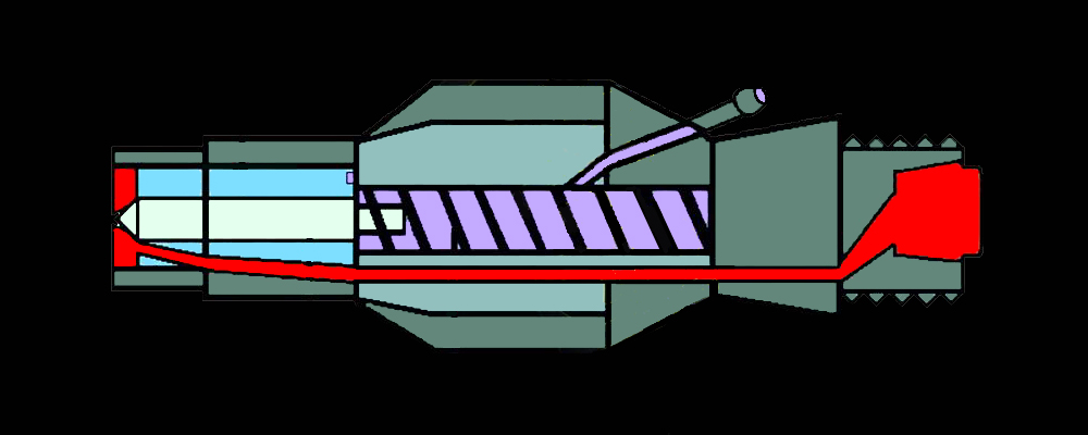 Injector cross-section diagram