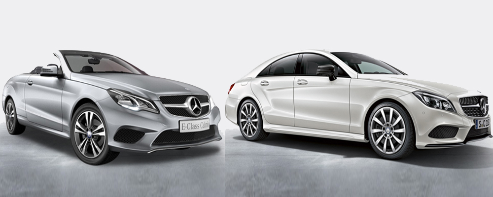 Mercedes E400 & CLS 250 CDI (Courtesy: MB India)