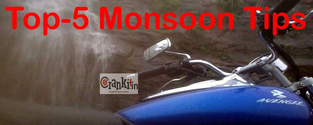 Top 5 Monsoon Tips for Motorists