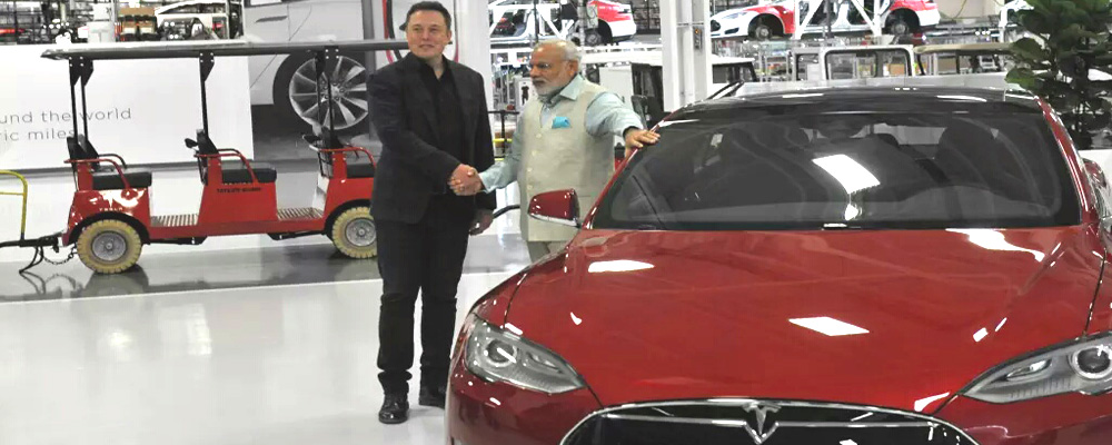 PM Modi at Tesla