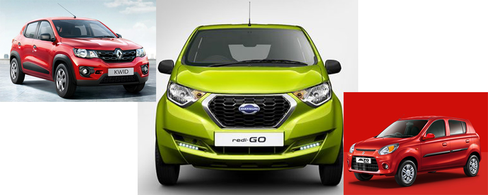 Datsun redigo comparison