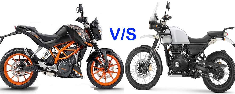 RE Himalayan vs Duke 390