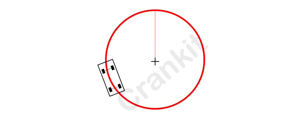 Turning circle radius