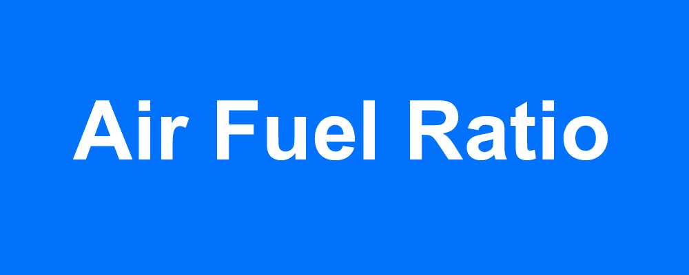 Air-Fuel Ratio