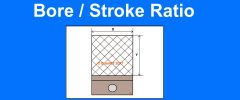 Bore-Stroke Ratio and engine shapes