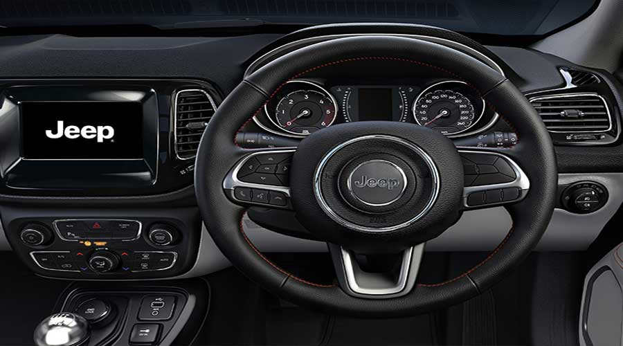 Jeep Compass Leather Wraped Steering Wheel
