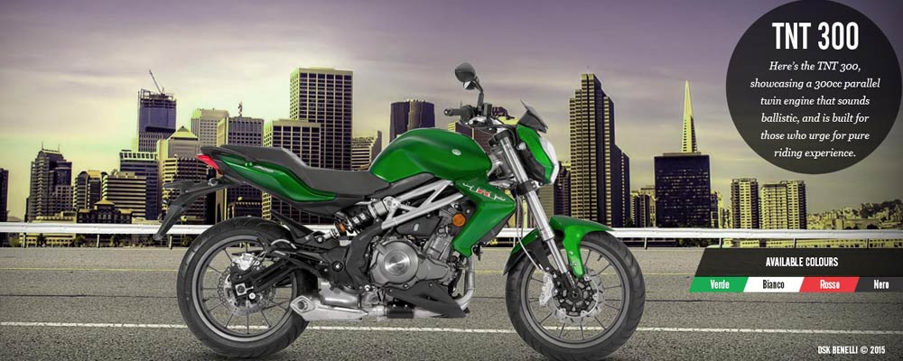 Benelli TNT 300 ABS (photo courtesy: DSK-Benelli)