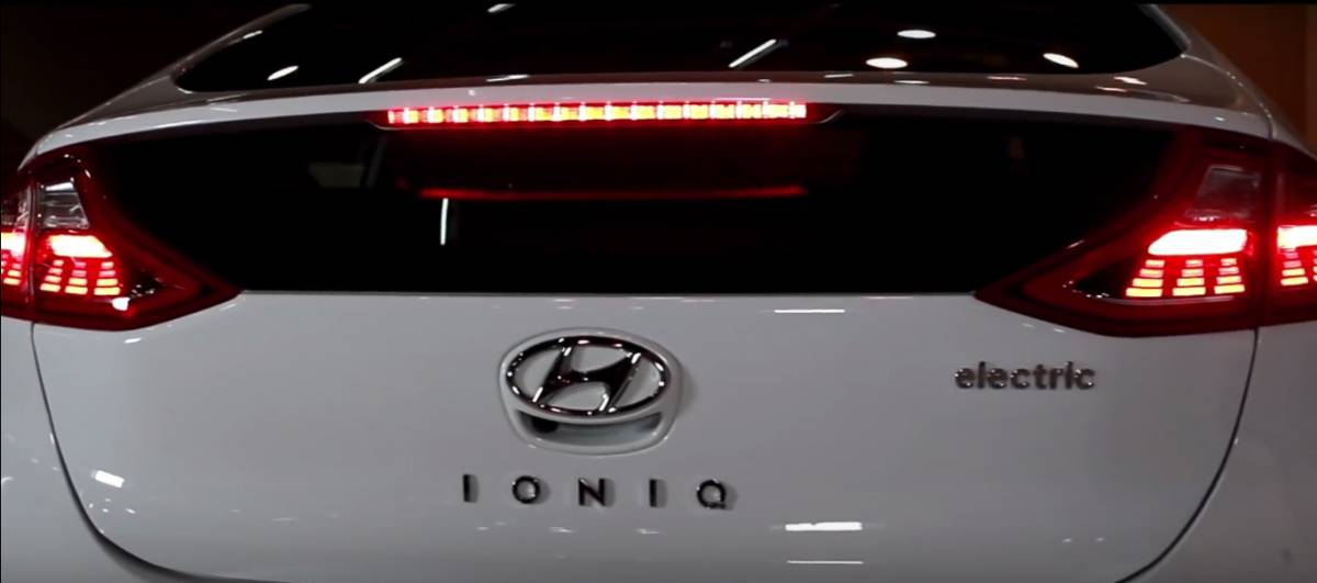 Hyundai Ioniq electric car