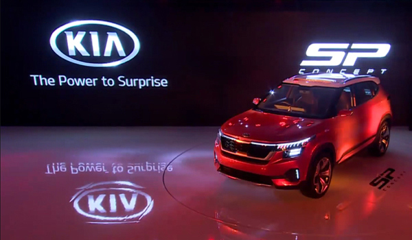 KIA Sp Concept at Auto Expo 2018