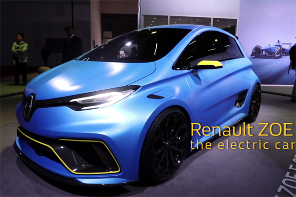 Renault Zoe e-sport electric car