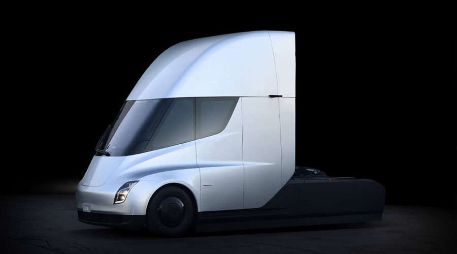 Tesla semi truck side view