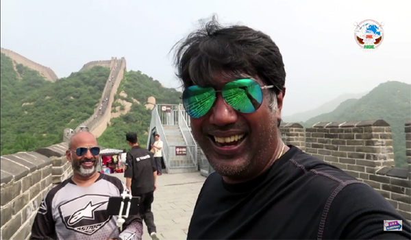 One World One Ride at The Great Wall of China